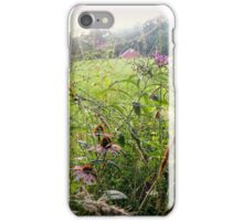 Morning Sunlight Spills From the Sky Unto the Meadow and Barn iPhone Case/Skin