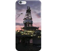 Oil Rig at Dawn iPhone Case/Skin