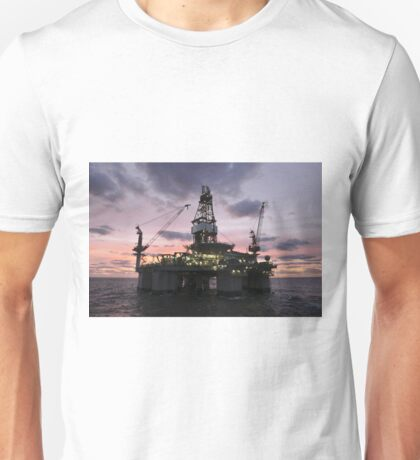 Oil Rig at Dawn Unisex T-Shirt