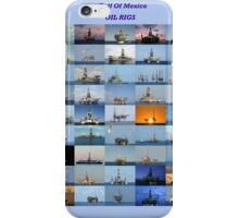 Oil rigs of the Gulf of Mexico iPhone Case/Skin