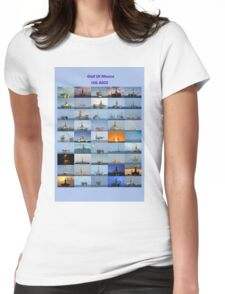 Oil rigs of the Gulf of Mexico Womens Fitted T-Shirt