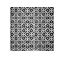 Wheel and Flower Pattern Scarf