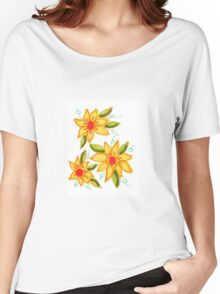 Flaming Blooms Women's Relaxed Fit T-Shirt