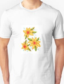 Flaming Blooms Unisex T-Shirt