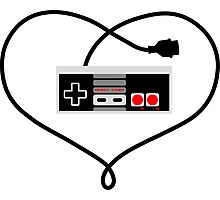 Love Nintendo NES Photographic Print