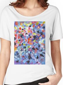 Abstract painting pattern colored Women's Relaxed Fit T-Shirt