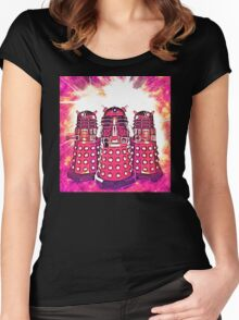 Radiant Daleks Women's Fitted Scoop T-Shirt
