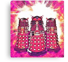 Radiant Daleks Canvas Print