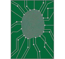 Thumbprint with Circuit Board Illustration Photographic Print