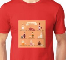 Set of Different Drinks in Ware Unisex T-Shirt