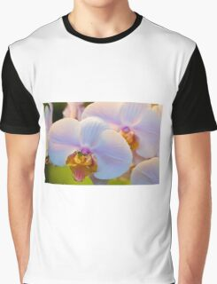 Pink Orchids, Close-up Graphic T-Shirt