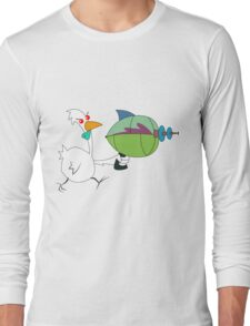 Chicken from Outer Space Long Sleeve T-Shirt
