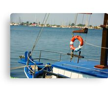 boat and holidays Canvas Print