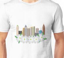 Atlanta Georgia City Skyline with Dogwood Illustration Unisex T-Shirt