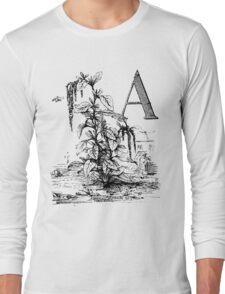 Garden Alphabet Letter A Long Sleeve T-Shirt