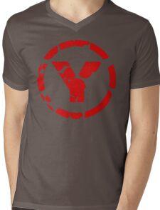 prYda red Mens V-Neck T-Shirt