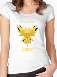 Team Instinct - Zapdos Women's Fitted Scoop T-Shirt