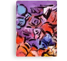 Abstract expressionist painting pattern colored Canvas Print