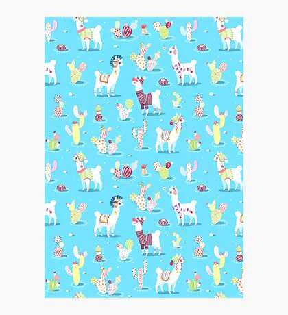 Alpaca Pattern Photographic Print