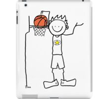 Slam dunk by a very tall basketball player - FOR LIGHT COLORED BACKGROUND iPad Case/Skin