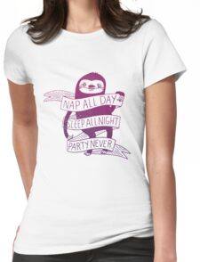 Nap All Day Womens Fitted T-Shirt
