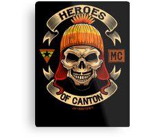 Heroes of Canton Bike Club Metal Print