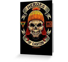 Heroes of Canton Bike Club Greeting Card