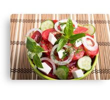 Green bowl of tasty and useful food for raw foodists Canvas Print