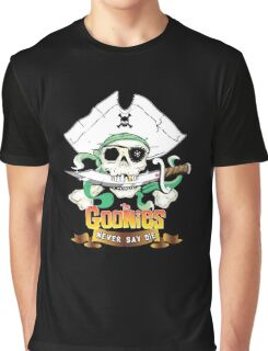 The Goonies - Never Say Die Black Variant Graphic T-Shirt