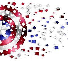 Captain America Shield by Habubita