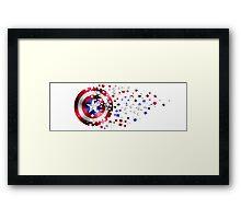 Captain America Shield Framed Print