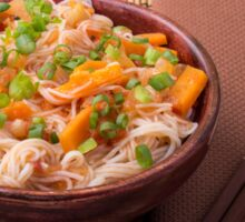 One serving of rice vermicelli hu-teu with vegetables Sticker