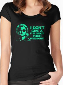 Escape from New York Snake Plissken Women's Fitted Scoop T-Shirt
