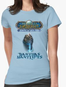 Barthas Manylifts, The Lift King Womens Fitted T-Shirt
