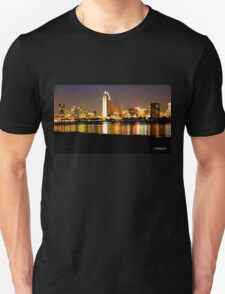 San Diego Skyline - Night Unisex T-Shirt