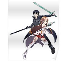 Sword Art Online Asuna and Kirito  Poster