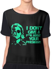 Escape from New York Snake Plissken Chiffon Top