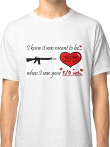 Romantic FPS Gamer Geek Love Classic T-Shirt
