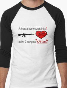 Romantic FPS Gamer Geek Love Men's Baseball ¾ T-Shirt