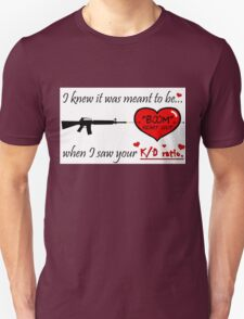 Romantic FPS Gamer Geek Love Unisex T-Shirt