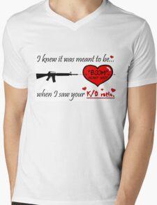 Romantic FPS Gamer Geek Love Mens V-Neck T-Shirt