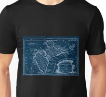American Revolutionary War Era Maps 1750-1786 064 A map of Guadeloupe one of the Caribby Islands in the West Indies subject to France Inverted Unisex T-Shirt
