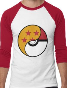 Dragon Ball x Pokemon Men's Baseball ¾ T-Shirt