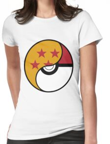 Dragon Ball x Pokemon Womens Fitted T-Shirt