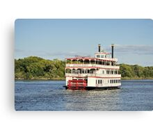 Savannah River Steamboat Canvas Print
