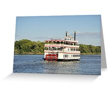Savannah River Steamboat Greeting Card