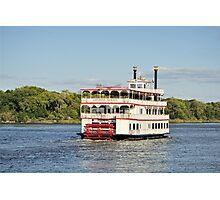 Savannah River Steamboat Photographic Print