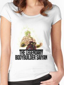 The Legendary Bodybuilder Saiyan Broly Women's Fitted Scoop T-Shirt