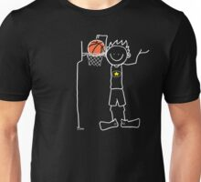 Slam dunk by a very tall basketball player - FOR DARK COLORED BACKGROUND Unisex T-Shirt