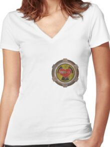 The fallout shelter vault of love Women's Fitted V-Neck T-Shirt